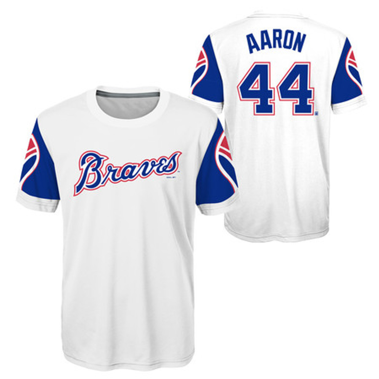 Youth Hank Aaron Atlanta Braves Cooperstown Collection Jersey Top