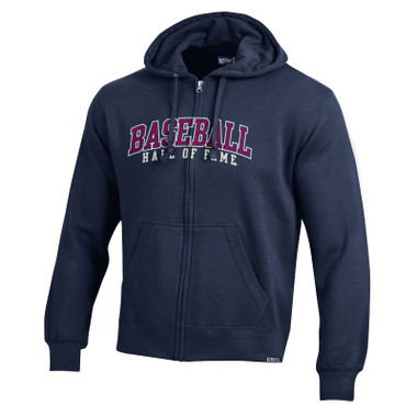 Men's Baseball Hall of Fame Navy Basic Full-Zip Hoodie