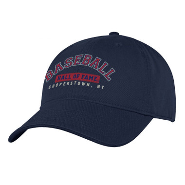 Men's Baseball Hall of Fame Navy Wordmark Adjustable Cap