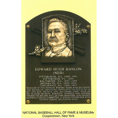 Ned Hanlon Baseball Hall of Fame Plaque Postcard
