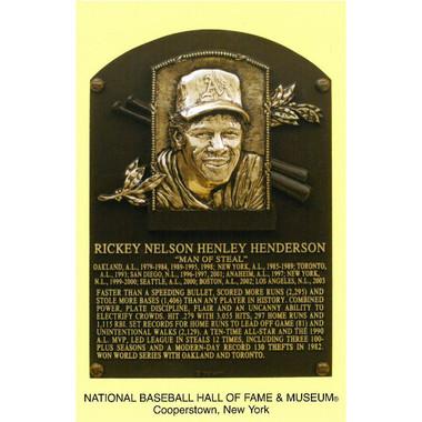 Rickey Henderson Baseball Hall of Fame Plaque Postcard