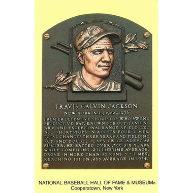 Travis Jackson Baseball Hall of Fame Plaque Postcard