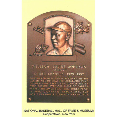 Judy Johnson Baseball Hall of Fame Plaque Postcard