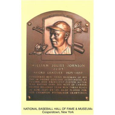 Judy Johnson Baseball Hall of Fame Plaque Postcard