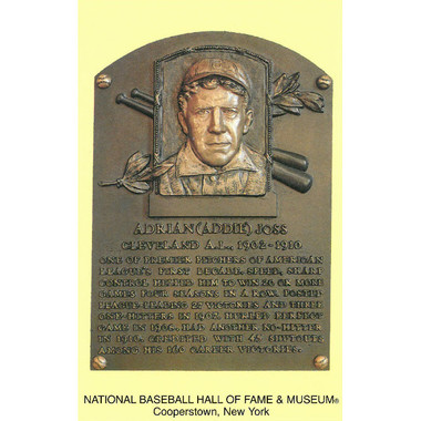 Addie Joss Baseball Hall of Fame Plaque Postcard