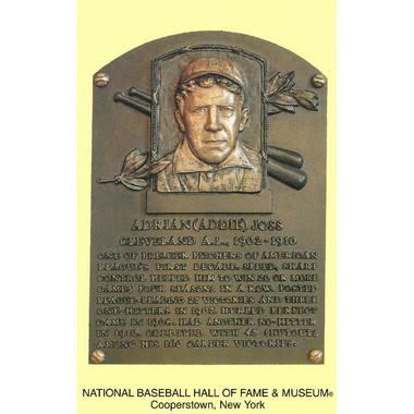 Addie Joss Baseball Hall of Fame Plaque Postcard