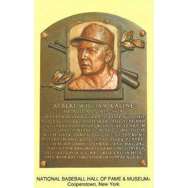 Al Kaline Baseball Hall of Fame Plaque Postcard