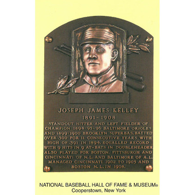 Joe Kelley Baseball Hall of Fame Plaque Postcard