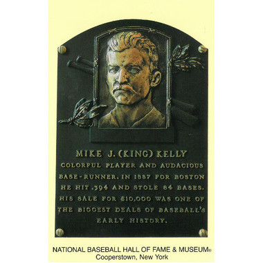 Mike King Kelly Baseball Hall of Fame Plaque Postcard