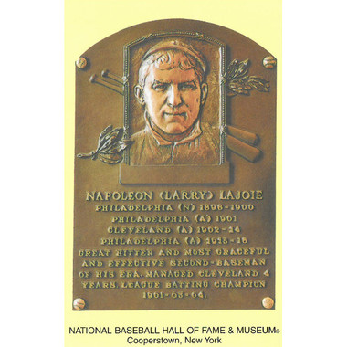 Nap Lajoie Baseball Hall of Fame Plaque Postcard