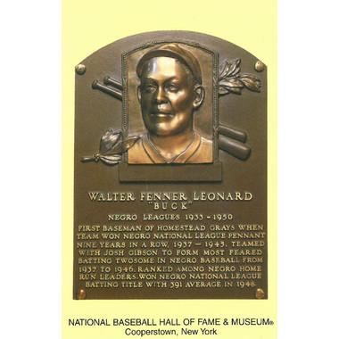 Buck Leonard Baseball Hall of Fame Plaque Postcard