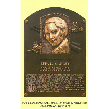 Effa Manley Baseball Hall of Fame Plaque Postcard