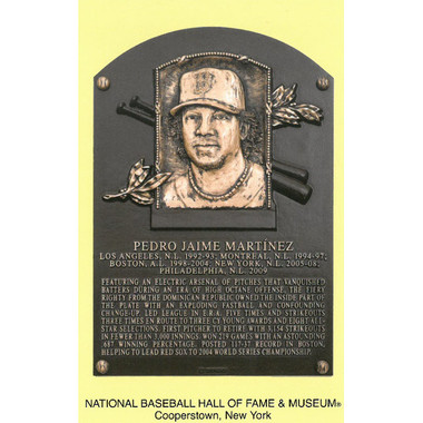 Pedro Martinez Baseball Hall of Fame Plaque Postcard