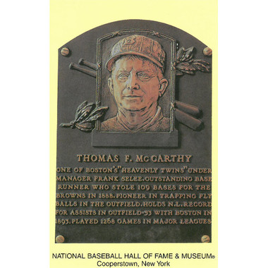 Tom McCarthy Baseball Hall of Fame Plaque Postcard