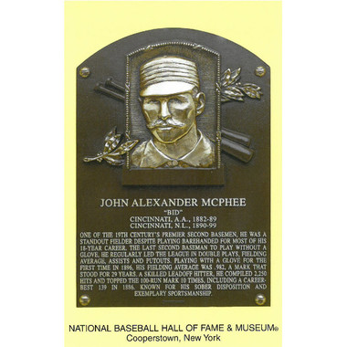 Bid McPhee Baseball Hall of Fame Plaque Postcard