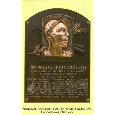 Jose Mendez Baseball Hall of Fame Plaque Postcard