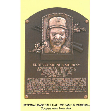 Eddie Murray Baseball Hall of Fame Plaque Postcard