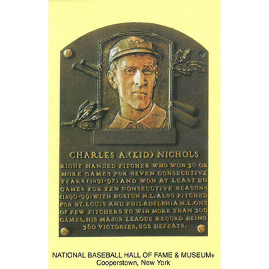 Kid Nichols Baseball Hall of Fame Plaque Postcard