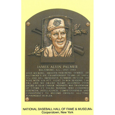 Jim Palmer Baseball Hall of Fame Plaque Postcard