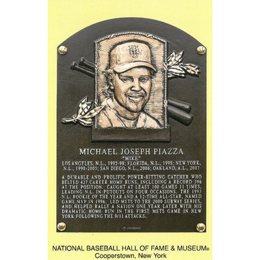 Mike Piazza Baseball Hall of Fame Plaque Postcard