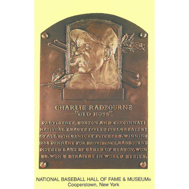 Charles Radbourn Baseball Hall of Fame Plaque Postcard