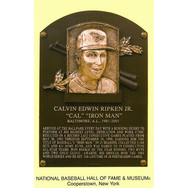 Cal Ripken Jr. Baseball Hall of Fame Plaque Postcard