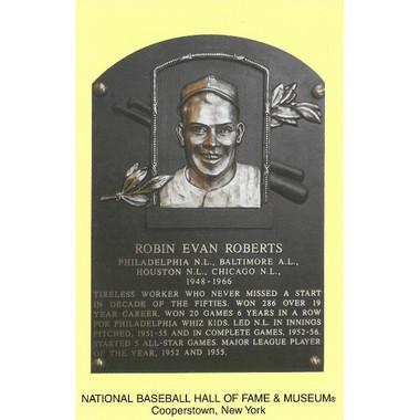 Robin Roberts Baseball Hall of Fame Plaque Postcard