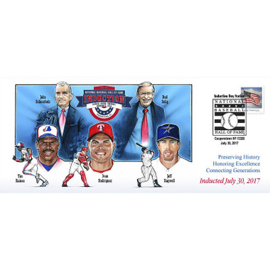 Photo File Baseball Hall of Fame 2017 Induction Cachet