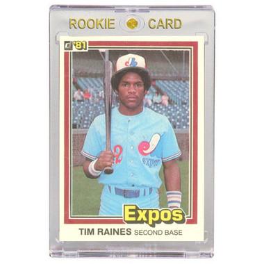 Tim Raines Monteal Expos 1981 Donruss # 538 Rookie Card