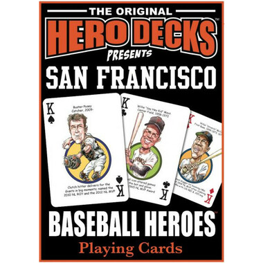 Hero Decks Caricature Playing Cards For San Francisco Giants Fans