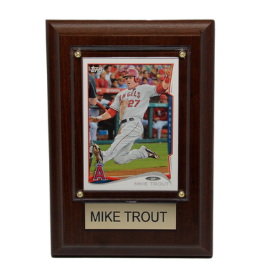 "Mike Trout Los Angeles Angels 4"" x 6"" Baseball Card Plaque"