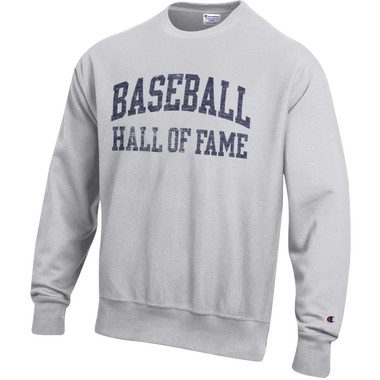 Men's Champion Baseball Hall of Fame Oxford Gray Reverse Weave Sweatshirt