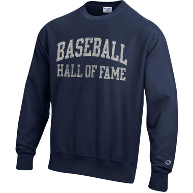 Men's Champion Baseball Hall of Fame Navy Reverse Weave Sweatshirt