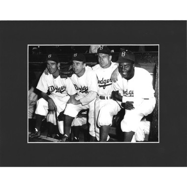 Matted 8x10 Photo- Brooklyn Dodgers Lineup