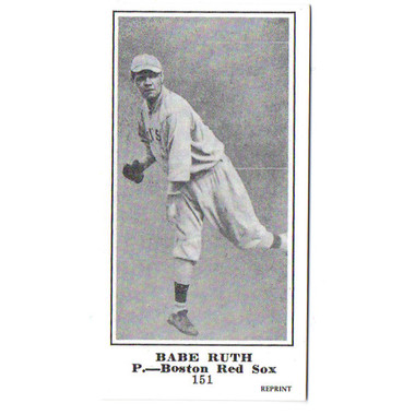 M101-5 Babe Ruth Reprint Rookie Card