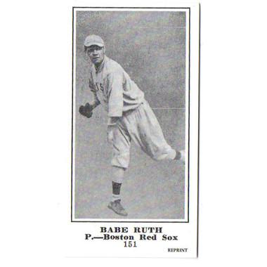 M101-5 Babe Ruth Reprint Rookie Card