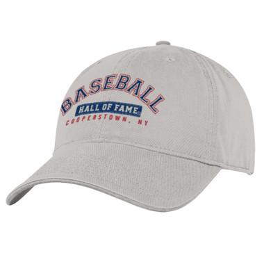Men's Baseball Hall of Fame Stone Wordmark Adjustable Cap