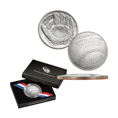 Baseball Hall of Fame US Mint Half-Dollar Clad Commemorative Coin