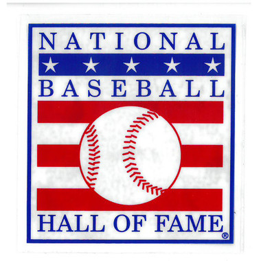 Baseball Hall of Fame Logo 3 x 3 Static Sticker