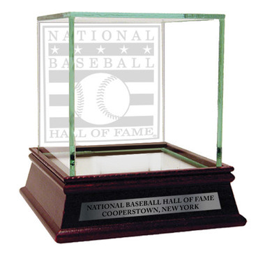 Baseball Hall of Fame Logo Glass Single Baseball Display Case