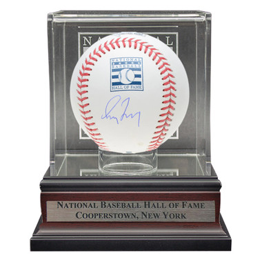 Greg Maddux Autographed Hall of Fame Logo Baseball with Case (MLB/Fanatics)