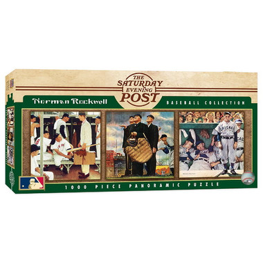 MasterPieces Norman Rockwell 3 in 1 Collage 1000 Piece Panoramic Puzzle
