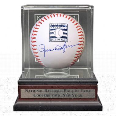 Rollie Fingers Autographed Hall of Fame Logo Baseball with Case (JSA)