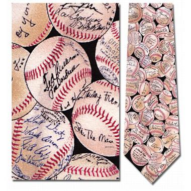 Baseball Autographs Silk Neck Tie