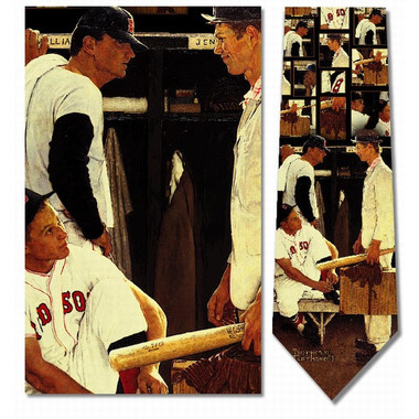 Norman Rockwell The Rookie Baseball Silk Neck Tie