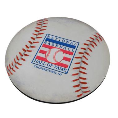Baseball Hall of Fame Round Baseball Mousepad