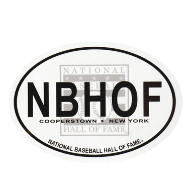 Baseball Hall of Fame Euro Oval Decal