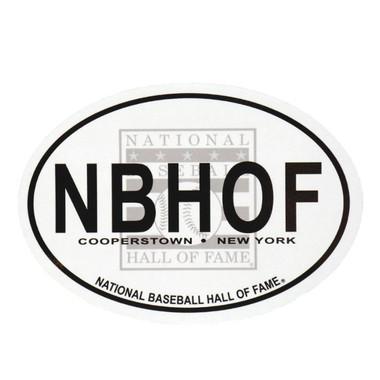 Baseball Hall of Fame Oval Euro Magnet