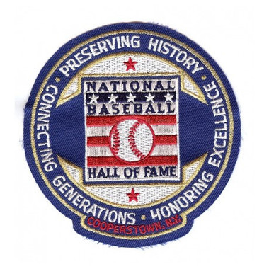 Baseball Hall of Fame Circle Logo Patch