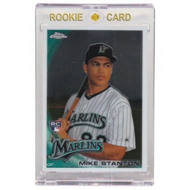 Giancarlo Stanton Miami Marlins 2010 Topps Chrome # 190 Rookie Card